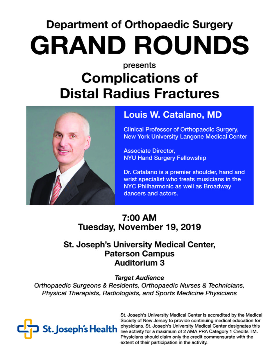 Catalano Grand Rounds Flyer